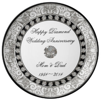 60. Hochzeitstag-Porzellan-Platte Teller Aus Porzellan
