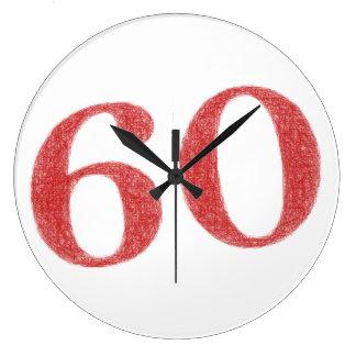 60 Jahre Jahrestag Wanduhr