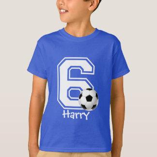 6. Geburtstagsjungenfußball personalized-3 T-Shirt
