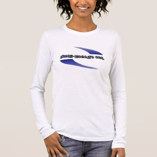 6.-Hokage HNO. Blaues Logo Langarm T-Shirt