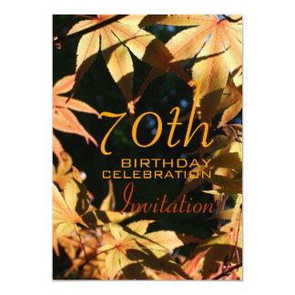 70. Geburtstags-Feier-Herbst-Gewohnheits-Einladung 12,7 X 17,8 Cm Einladungskarte