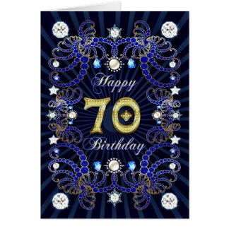 70. Geburtstagskarte mit Massen der Juwelen Karte