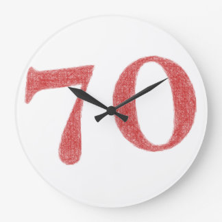 70 Jahre Jahrestag Wanduhr