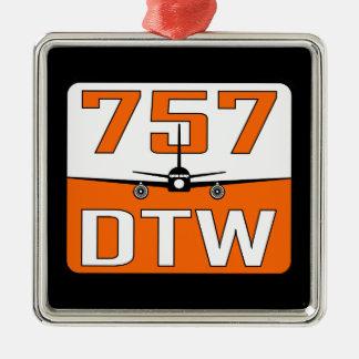 757 DTW Weihnachtsbaum-Verzierung Silbernes Ornament