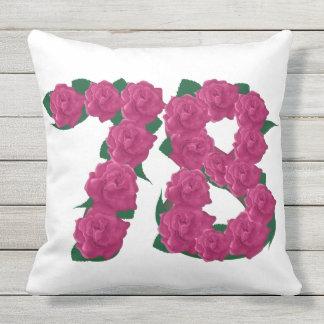 78. Jahrestags-Wurfs-Kissen im Freien Kissen