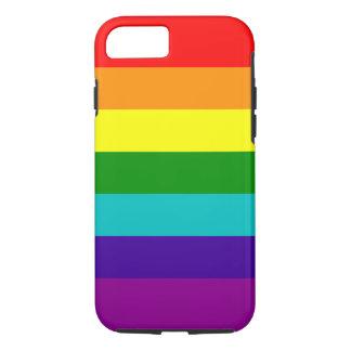 7 Streifen-Regenbogen-Stolz-Fall iPhone 8/7 Hülle