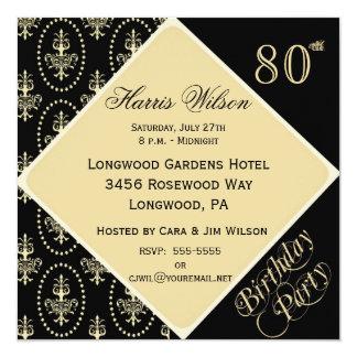 80.-89. Geburtstags-Einladungen Quadratische 13,3 Cm Einladungskarte