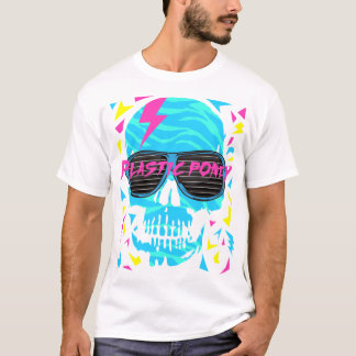 80er elektronischer Schädel T-Shirt