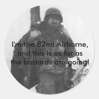 82d_poster, bin ich das 82. im Flugzeug, und Runder Aufkleber