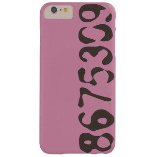 8675309 Telefon-Kasten-Rosa mit schwarzen Zahlen - Barely There iPhone 6 Plus Hülle
