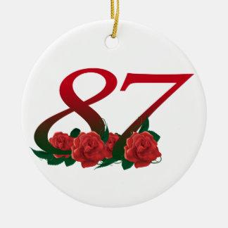 87. Geburtstags-oder der Nr.-87 Verzierung Rundes Keramik Ornament