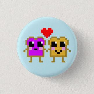 8 Bit-Erdnussbutter und Gelee Runder Button 3,2 Cm