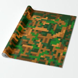 8 Bit-Tarnung Einpackpapier