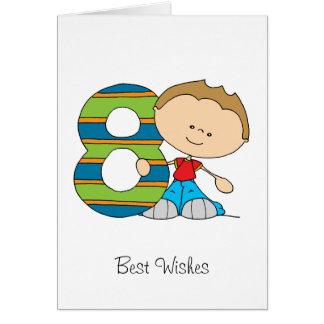 8. Geburtstag - Grußkarte - Junge