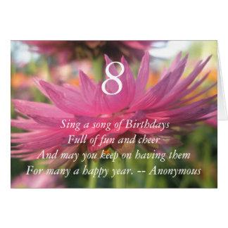8. Geburtstag Karte