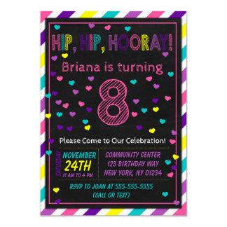 8. Geburtstags-Einladung für ein Karte