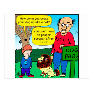 901 warum der Hund ist, der wie ein Katzen-Cartoon Postkarte