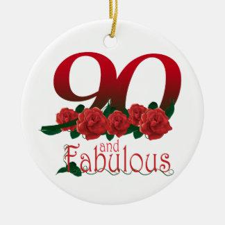 90. Geburtstags-Blume Keramik Ornament
