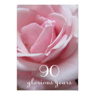 90. Geburtstags-Feier! - Hübsche rosa Rose Karte