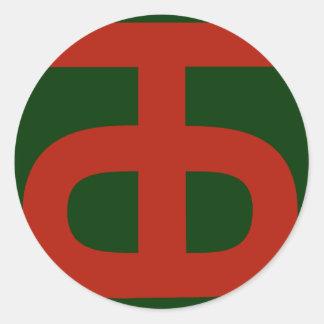 90t Uhr Infantry Division Runder Aufkleber