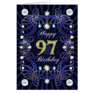 97. Geburtstagskarte mit Massen der Juwelen Karte