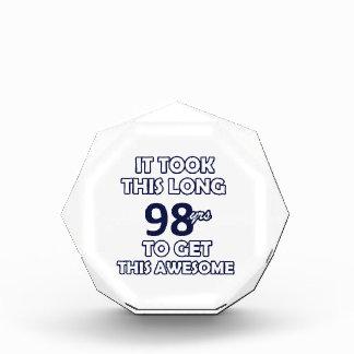 98-Geburtstags-Entwurf Acryl Auszeichnung