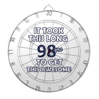 98-Geburtstags-Entwurf Dartscheibe