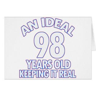 98. Geburtstagsentwürfe Karte