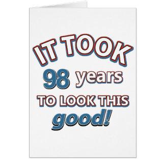 98. jährige Geburtstagsentwürfe Karte