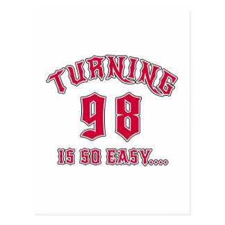 98 zu drehen ist so einfacher Geburtstag Postkarte