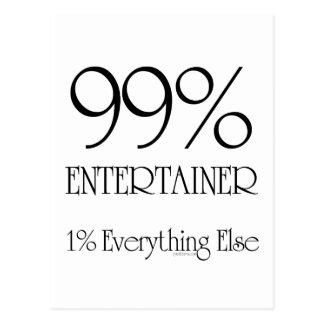 99% Entertainer Postkarte