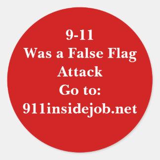 9-11 Insider-Job Runde Sticker