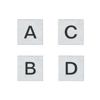 A- bis d-Rechtschreibungsmagneten Stein-Magnet