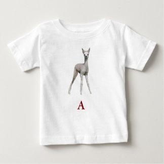 """""""A"""" ist für """"Alpaka """" Baby T-shirt"""