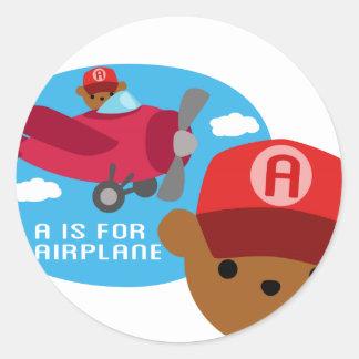 a ist für Flugzeug Runde Aufkleber