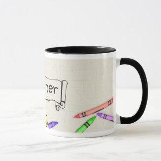 A+ Lehrer mit der Zeichenstift-Tasse Tasse