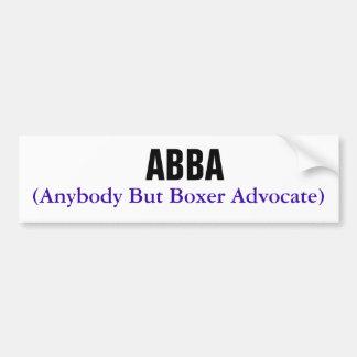 ABBA, (jedesaber Boxer-Anwalt) Autoaufkleber