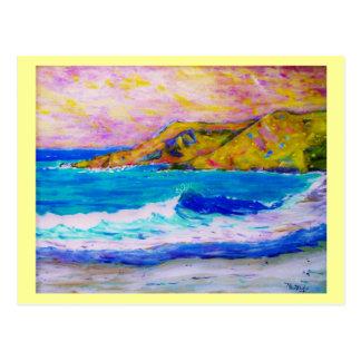 Abbruch einer Welle Postkarte