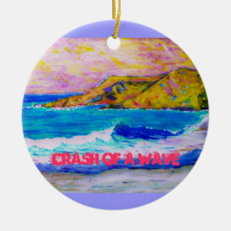 Abbruch einer Welle Rundes Keramik Ornament