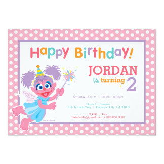 Abby Geburtstag 12,7 X 17,8 Cm Einladungskarte