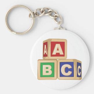 ABC-Blöcke Schlüsselanhänger