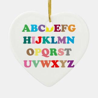 ABCs bunte Buchstaben Keramik Ornament