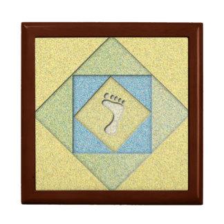 Abdruck im Sand Große Quadratische Schatulle