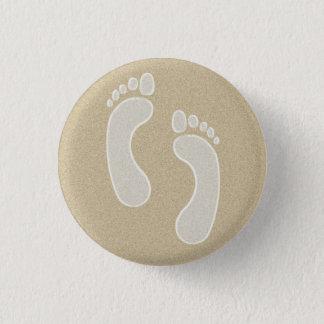Abdrücke im Sand Runder Button 2,5 Cm