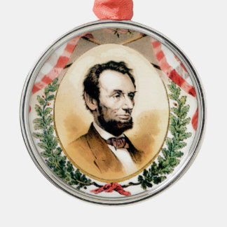 Abe Oval Silbernes Ornament