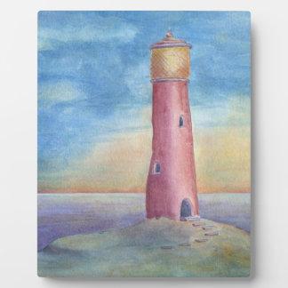 Abend am Leuchtturm Fotoplatte