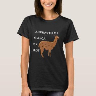 Abenteuer-Alpaka mein Taschen-Ferien-Shirt T-Shirt