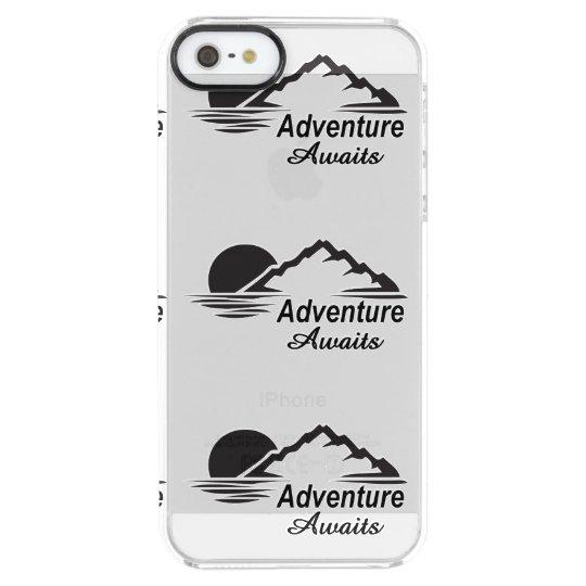 Abenteuer erwartet Natur-freie Natur Durchsichtige iPhone SE/5/5s Hülle