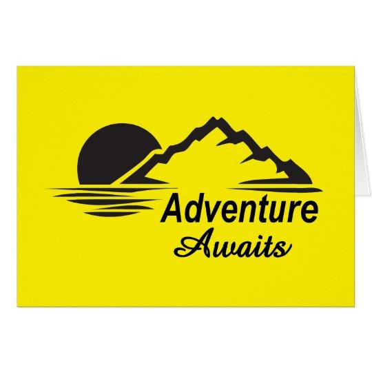 Abenteuer erwartet Natur-freie Natur Karte