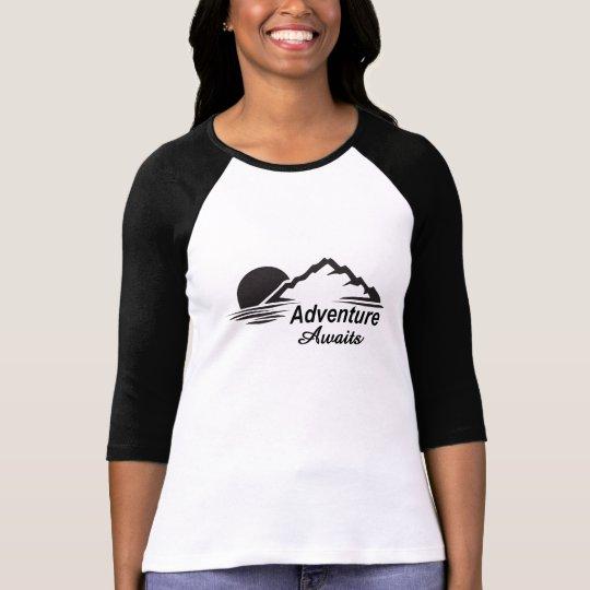 Abenteuer erwartet Natur-freie Natur T-Shirt